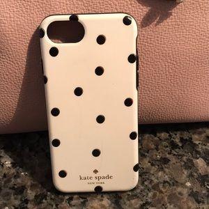 Kate Spade white and black polka dot iPhone 6/7/8